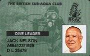 BSAC Dive Leader Card