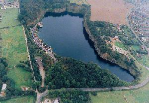 Overhead view of Stoney Cove
